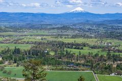 Mt McLoughlin in Oregon from the Table Rocks royalty free stock image