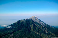 Mt Merapi stockfotos