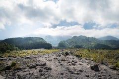 Mt. Merapi. Active volcano in Yogyakatar , Indonesia Stock Photos