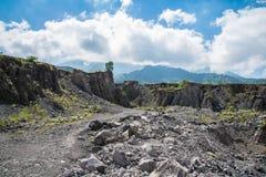 Mt Merapi Java, Indonésie Image stock