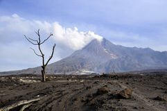 Mt. Merapi - Java - Indonesia Stock Image