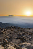 Mt Meru & Kilimanjaro at sunrise. Royalty Free Stock Photos
