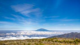 Mt Meru, parco nazionale di Kilimanjaro, Tanzania, Africa Fotografie Stock Libere da Diritti