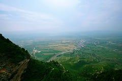 Mt Mian-Berg, Jiexiu, Shanxi Stockbilder