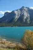 MT Michener, synclines, en gletsjer gevoed meer Royalty-vrije Stock Foto