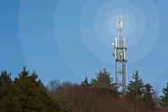 Mât mobile de radio de réseau Photo stock