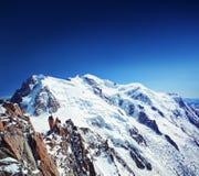 Mt Mont Blanc em cumes franceses Fotografia de Stock