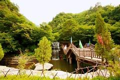 Mt Montaña de Mian, Jiexiu, Shanxi Imagen de archivo libre de regalías