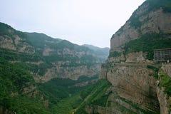 Mt Montaña de Mian, Jiexiu, Shanxi Imagenes de archivo