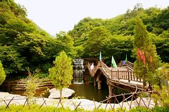 Mt Montagne de Mian, Jiexiu, Shanxi image libre de droits