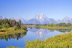 Mt. Moran. Mount Moran -- Jackson Hole, Wyoming royalty free stock photos
