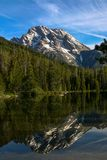 Mount Moran mountain in the Tetons in the Western United States. stock images