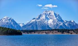 Mt Moran e Jackson Lake Foto de Stock Royalty Free