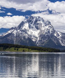 Mt. Moran at the Grand Teton National Park, Wyoming stock photo