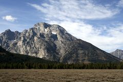 MT. Moran, Grand Teton NP, Wyoming. View of the Grand Teton panorama Stock Image