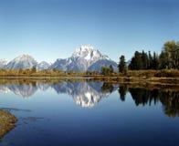 Mt.Moran- och Oxbow böjning 库存图片