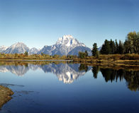 Mt.Moran and Oxbow Bend Stock Images