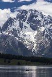 Mt Moran på den storslagna Teton nationalparken, Wyoming Arkivbilder