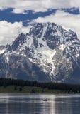 Mt Moran på den storslagna Teton nationalparken, Wyoming Royaltyfri Fotografi