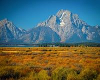 MT Moran - Tetons - Wyoming royalty-vrije stock foto's