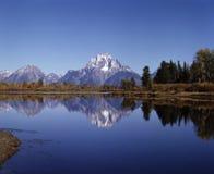 MT.MORAN UND OXBOW SCHLAUFE Lizenzfreies Stockbild