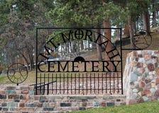 Mt Moriah Cmentarniana brama Obrazy Royalty Free