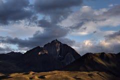 Mt Morrison, заход солнца Стоковые Изображения RF