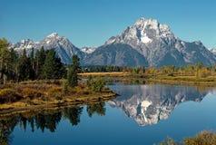 Mt Mt.Moran,怀俄明 免版税库存图片