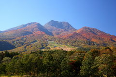 Mt. Myoko in autumn Stock Image