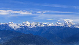 Mt nagarkot recolhido everest, nepal Foto de Stock Royalty Free