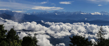 Mt nagarkot rentré par everest, Népal photos libres de droits