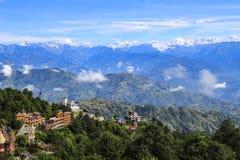 Mt nagarkot rentré par everest, Népal photographie stock libre de droits