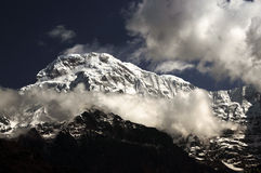 Mt.Nanda devi of the himalayan mountain range Stock Images