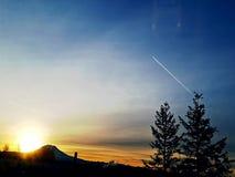 Mt Nascer do sol mais chuvoso Foto de Stock