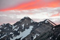 Mt. Nebo peak at sunset. Stock Photography