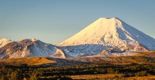 Mt Ngaruahoe Arkivbilder