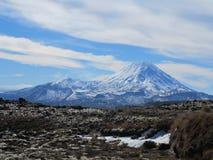 Mt Ngauruhoe 免版税图库摄影