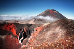 Mt Ngauruhoe (aka Mt Vulcano di sorte avversa) Immagini Stock Libere da Diritti