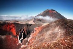 Mt Ngauruhoe (aka Mt Vulkan för öde) Royaltyfria Bilder