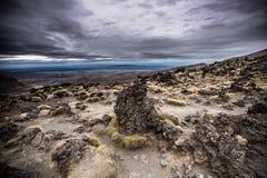 Mt Ngauruhoe en parc national NZ de Tangariro Photos stock