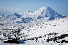 Mt Ngauruhoe från Mt Ruapehu Whakapapa Ski Field New Zealand Arkivbild