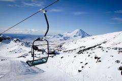 Mt Ngauruhoe From Mt Ruapehu Whakapapa Ski Field New Zealand Stock Image