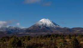 Mt Ngauruhoe i vinter Royaltyfri Fotografi