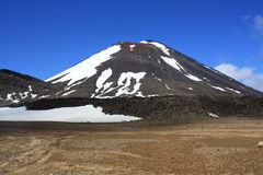 Mt. Ngauruhoe from South Crater Royalty Free Stock Photo