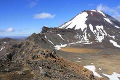 Mt. Ngauruhoe von der roten Spitze. Lizenzfreies Stockbild