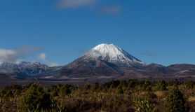 Mt. Ngauruhoe in winter Royalty Free Stock Photography