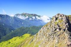 Mt Norikura, alpi del Giappone Immagini Stock Libere da Diritti