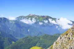 Mt Norikura, alpi del Giappone Fotografia Stock Libera da Diritti