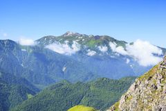 Mt Norikura, Japonia Alps Zdjęcie Royalty Free