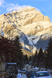 mt Norquay mountain view stock photography